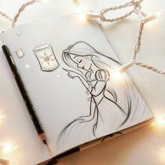 My Disney drawing And finally I see the light rapeux rapunzel Meine Disney Zeichnung Und schließlich sehe ich das Licht rapeux rapunzel beautyskin My Disney drawing And finally I see that … - Disney Drawings Sketches, Pencil Art Drawings, Drawing Sketches, Sketching, Simple Disney Drawings, Drawing Ideas, Dragon Drawings, Original Disney Sketches, Drawings Of Love