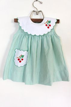 Vintage Baby 3-Piece Cherry Dress Outfit