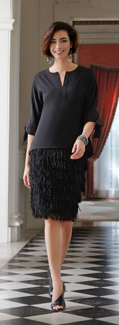 The Fringe Skirt: Swing, shimmy and sway in this decadent party piece.
