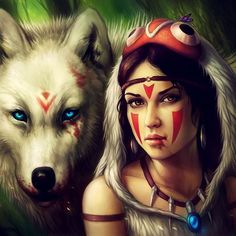 #tb - Princess Mononoke day version.. In my own style!  Have you watched the movie? I love it to pieces! ❤️❤️ You can get any prints by me for 25% off by using the discount code SUMMER :) Only a few more days! Link is in my bio ❤️ #art #arte #artsy #mononoke #mononokehime #princessmononoke #wolf #warrior #lady #art_worldly #art_gallery #art_motive #art_empire #art_we_inspire #art_help #art_community #art_realistique #art_boost #art_collective #fantasy #fantasyart #fanart #manga #anime...