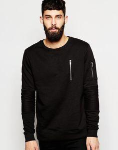 River Island Zip Pocket Sweatshirt