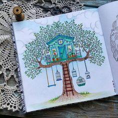 """«И по традиции воскресный отчёт #таинственныйсад с моей детской мечтой -""""домике на дереве""""...для #марафон_таинственный_сад и…»"""