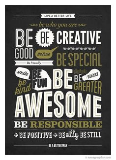 Motivational Poster Be kind Be greater Be awesome por NeueGraphic