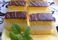 Kinder süti Mara konyhájából Hungarian Cake, Hungarian Recipes, Hungarian Food, Vanilla Cake, Nutella, Cheesecake, Deserts, Goodies, Food And Drink