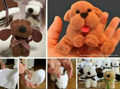 Washcloth puppies tutorial
