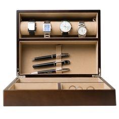 Hives & Honey Rich Walnut Watch Box and Valet