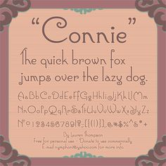 Connie font by Nymphont - FontSpace