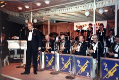 Dad leading the Harry James Band in the 80's