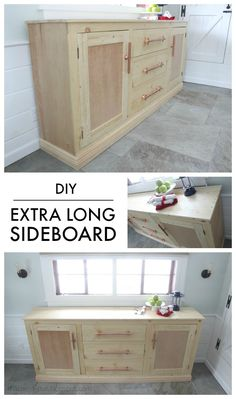"That's My Letter: ""E"" is for Extra Long Sideboard with free plans @knockoffwood"