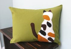 @abritta - Sienna!  Calico Cat Pillow Cover by DesignsByNancyT on Etsy, $21.00