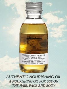 Authentic Nourishing Oil is a nourishing and moisturising oil that can be used for the face, hair, and body. It is formulated with 100% ingredients of natural origin and organic Carthame Oil which has anti-oxidant and protective properties. It is enriched with organic Jojoba Oil, Sunflower Oil and Sesame Oil which all hav anti-oxidant and nourishing qualities. Its particular fragrance is a blend of natural essential oils.