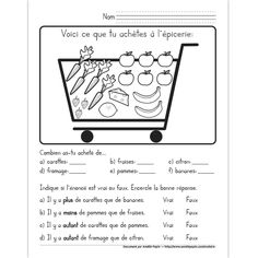 Arithmetic: count and compare Read In French, Learn French, French Language Lessons, French Lessons, French Teacher, Teaching French, Amelie Pepin, French Worksheets, French Education