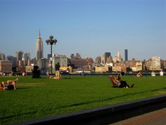 Hoboken, New Jersey. View of Manhattan across the river. Henry Hudson. Birthplace of modern baseball. Hudson river crossing. Pier A.