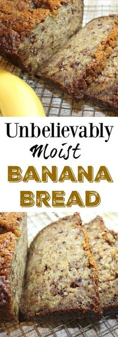 Banana Bread that can be made in a loaf or bundt pan. Simple ingredients a Moist Banana Bread that can be made in a loaf or bundt pan. Simple ingredients a. -Moist Banana Bread that can be made in a loaf or bundt pan. Simple ingredients a. Homemade Banana Bread, Banana Bread Recipes, Cinnamon Banana Bread, Homemade Recipe, Banana Bread Recipe 5 Bananas, Banana Bread Baking Powder, Bananna Nut Bread, Easy Homemade Bread Recipes, Easy Banana Desserts