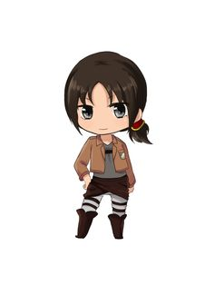 Chibi Ymir. i really want more solo pictures of Ymir. Yes, she and Krista are cute, but come on, Ymir is a cool character with or without a love interest. -_-