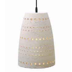 Lámpara de techo de cerámica 100% hecha a mano, acabado blanco mate natural. Diseño: Katrin Schikora