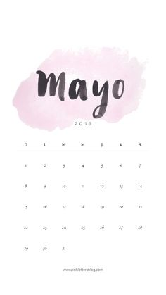Lockscreen Calendario Mayo 201