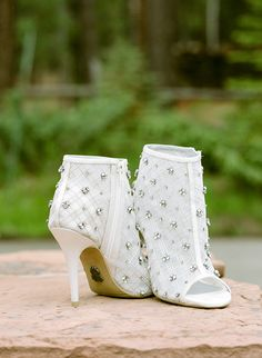 Studded open toed Wh