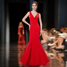 Women's Sexy V-neck Fishtail Long Party Evening Prom Dress 08290 US Seller  #EverPretty #Maxi #Formal