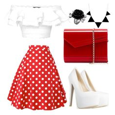 50's by mag11rich on Polyvore featuring polyvore, fashion, style, Alexander McQueen, Jimmy Choo and clothing