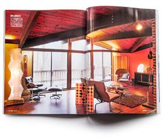 elle decor magazine japan, house industries, creators' homes, andy cruz, herman miller, eames, noguchi, H pattern screen