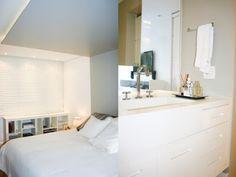 studio ML.2: Quartos e banheiros integrados