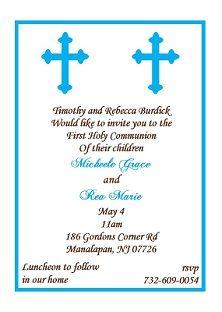 twins communion invitations for boys