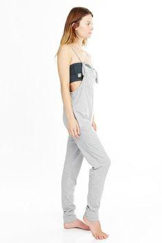 644fa597f41  Mudra  Drop Crotch Yoga Jumpsuit Women s Grey