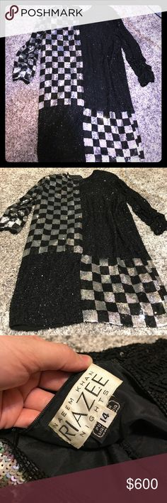 Naeem Khan Riazee Nights Vintage Beaded Dress Vintage Beaded Dress, excellent condition, size 14, offers accepted! (the dress is large on me but the pictures give you an idea of how it lays on the body!) Naeem Khan Dresses