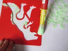 Malowanie szablonów dinozaurów