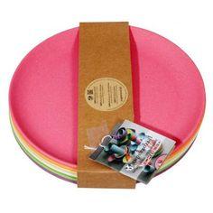 Teller Rainbow Set 6 Stück Kuchenteller 6-teilig Frühstücksteller umweltfreundlich 100 % Bio Kinderg   8385 / EAN:8717371221232
