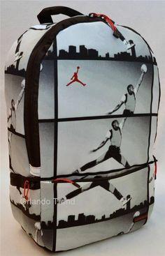 Nike Air Jordan Backpack Haj Graphic Print Black Gray Bag Laptop Tablet  Mens  Nike  Backpack  Jordan  OrlandoTrend a327733493