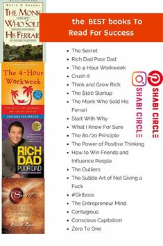 The BEST list of books to read that you will find. These are the books to read in order to achieve a successful mindset, thus creating a successful life. If you are looking for books to read on personal growth or business, this is the list for you! Best Books List, Best Books To Read, Good Books, Book Club Books, Book Lists, Inspirational Books To Read, Entrepreneur Books, Personal Development Books, Book Suggestions