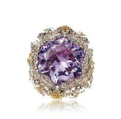 Tiny Flight Ring by Samantha Wills Purple Hues, Shades Of Purple, Purple Gold, 50 Shades, Purple Jewelry, Purple Rings, Malva, Bohemian Rings, All Things Purple