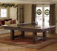 Ping Pong Cover for Pool Table = $800 @ http://www.potterybarn.com/products/ping-pong-cover/?pkey=cgame-tables& /or Buy WITH Pool table = $6,000 and save $300