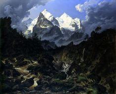 Karl Eduard Biermann - Das Wetterhorn 1830