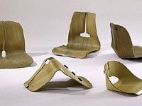 Charles & Ray Eames. Chair Shell Experiments, designed 1941-45, molded plywood, metal, and rubber. Courtesy of Vitra Design Museum (F-8 a-e)