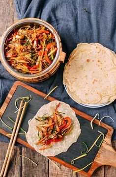 Vegetable Moo Shu is healthy and vegan, but it's also just plain delicious. But anyone will enjoy this Vegetable Moo Shu, not just vegans and vegetarians