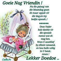 Baie Dankie, Lekker Dag, Evening Greetings, Baby Boy Knitting Patterns, Goeie Nag, Sleep Tight, Baby Booties, Bedtime, Good Night