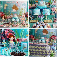 No photo description available. Kids Birthday Themes, 6th Birthday Parties, Birthday Party Decorations, Party Themes, Themed Parties, Little Mermaid Birthday, The Little Mermaid, Party Fiesta, Cowgirl Birthday