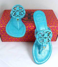 9e3d93ffe Tori Burch Miller Thong in Turquoise Miller Sandal