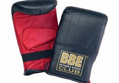 bbe Club Leather Bag Mitts * BBE Club Leather Bag Mitts BBE023 * BBE Leather bag mitts. One size fits all. * Foam filled for greater shock absorbency. * Incorporating elasticated wrist support. http://www.comparestoreprices.co.uk/sports-goods/bbe-club-leather-bag-mitts.asp
