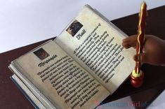 Make your own Harry Potter book, The Care of Magical Creatures for your American Girl Dolls.