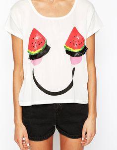 Image 3 ofPaul & Joe Sister T-Shirt in Watermelon Print