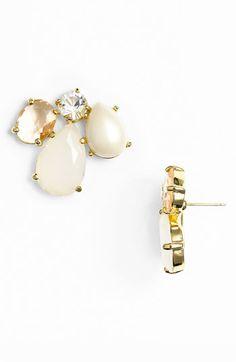 kate spade new york 'crystal chapel' cluster stud earrings