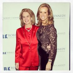 Kennedy cousins - Kathleen Kennedy Townsend and Kerry Kennedy Cuomo
