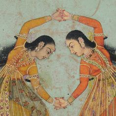 The interplay of emotions, storytelling and mood manifest in the 33 Asamyukta Hasta Mudras or 'single hand gestures' of where… Mughal Miniature Paintings, Mughal Paintings, Indian Art Paintings, Arte Krishna, Indian Traditional Paintings, Indian Folk Art, India Art, Woman Painting, Oriental