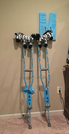 Cute way to decorate crutches. I NEED                                                                                                                                                      More
