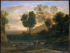 Artist: Claude Lorrain (Claude Gellée) (French, Chamagne 1604/5?–1682 Rome) Date: possibly 1646–47 Medium: Oil on canvas Dimensions: 40 1/2 x 52 3/4 in. (102.9 x 134 cm) Classification: Paintings Credit Line: Fletcher Fund, 1947 Accession Number: 47.12
