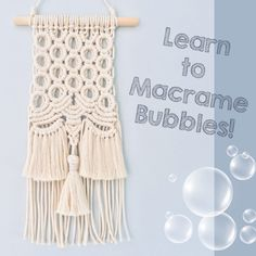 Macrame Plant Hanger Patterns, Macrame Wall Hanging Patterns, Macrame Patterns, Macrame Design, Macrame Art, Macrame Projects, Rope Crafts, Crochet, Watch